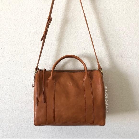 e57608df71e7 Madewell Prague O-Ring Leather Satchel